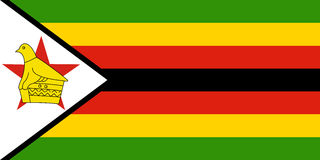 Flag of Zimbabwe Royalty Free Stock Images