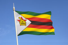 Flag of Zimbabwe - Africa. The national flag of the Republic of Zimbabwe (formally known as Southern Rhodesia from 1895 to 1980 Royalty Free Stock Images