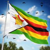 Flag of Zimbabwe. This is a computer generated and 3d rendered image Royalty Free Stock Photography