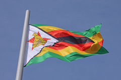 Flag of Zimbabwe Stock Photo