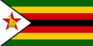 Flag of Zimbabwe. Vector illustration. World flag Royalty Free Stock Photography