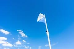 Flag of zurich switzerland with blue sky. Swiss zuerich Royalty Free Stock Photos