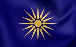 Flaga Środkowy Macedonia, Grecja royalty ilustracja