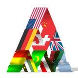 Flaga świat  ilustracji