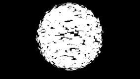 Flaga Światowa sfera Wiruje, pętla, alfa, akcyjny materiał filmowy