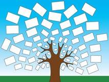 Flaga światu lub pieniądze drzewa ilustracja Fotografia Stock