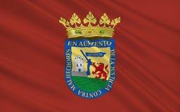 Flaga Alava lub Arab jest prowincją Hiszpania royalty ilustracja