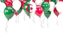 Flaga Algeria na balonach ilustracja wektor