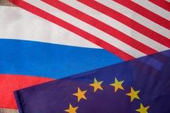 Flaga America, Europe i Russia, Obrazy Royalty Free