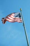 Flaga America na nieba tle zdjęcie stock