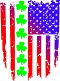 Flaga amerykańska celtów cloves ilustracji