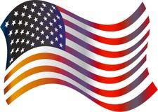 flaga amerykańska royalty ilustracja