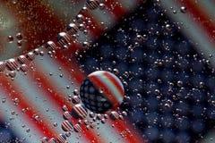 Flaga amerykańska bąble Zdjęcie Royalty Free