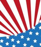 flaga amerykańska elegancka Fotografia Stock