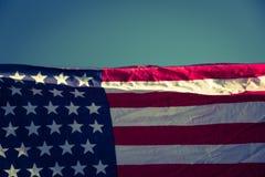 Flaga amerykańska (Filtrujący wizerunek przetwarzający rocznik e zdjęcie royalty free