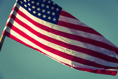 Flaga amerykańska (Filtrujący wizerunek przetwarzający rocznik e fotografia stock