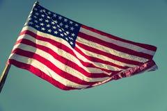 Flaga amerykańska (Filtrujący wizerunek przetwarzający rocznik e zdjęcia stock