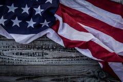 Flaga amerykańska (Filtrujący wizerunek przetwarzający vint obraz royalty free