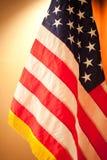 Flaga amerykańska indoors Fotografia Stock