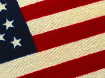 Flaga amerykańska makro- strzał 5 obrazy stock