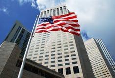 flaga amerykańska Miami Zdjęcie Royalty Free