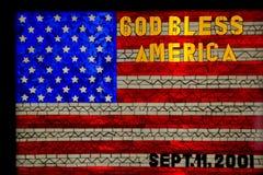 Flaga amerykańska na witrażu zdjęcia stock