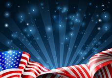 Flaga amerykańska patriotyczny lub polityczny projekt ilustracji