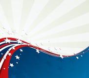 Flaga Amerykańska, Wektorowy patriotyczny tło ilustracja wektor