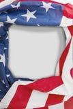 Flaga amerykańska z pustą wiadomością fotografia stock