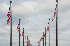 Flaga Amerykańskich Machać Zdjęcia Stock