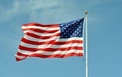 flaga amerykańskiej ampuła Fotografia Royalty Free
