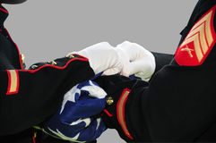 flaga amerykańskiej falcowania żołnierze Obraz Royalty Free