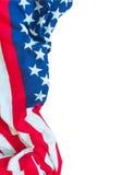 Flaga amerykańskiej granica odizolowywająca Zdjęcia Stock