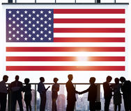 Flaga Amerykańskiej narodowości swobody kraju pojęcie Zdjęcia Royalty Free