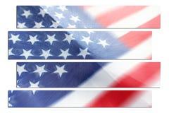 Flaga Amerykańskiej sztuki zoomu wybuchu Wysokiej Jakości Akcyjna fotografia Zdjęcie Royalty Free