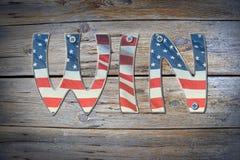 Flaga amerykańskiej wygrany pojęcie Obraz Royalty Free