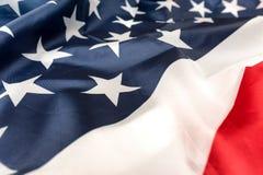 Flaga amerykańskiej zakończenie Obraz Stock