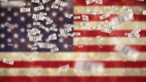 Flaga ameryka?ska i dolarowi rachunki