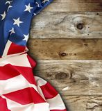 Flaga amerykańska na deskach Zdjęcie Stock