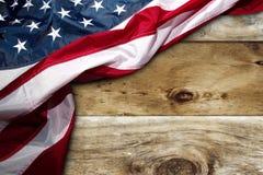 Flaga amerykańska na deskach Obraz Royalty Free