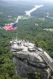 Flaga Amerykańska na komin skale Obrazy Stock