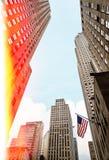 Flaga amerykańska na ulicach Manhattan Obrazy Royalty Free