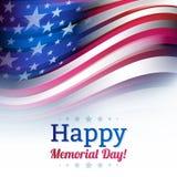 Flaga amerykańska w plama stylu, zatarty biel Zdjęcia Stock
