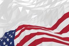 Flaga amerykańska w trójgraniastym stylu Obraz Royalty Free