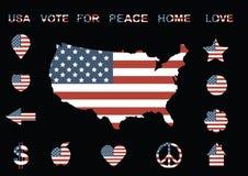 Flaga amerykańskich ikony Fotografia Stock