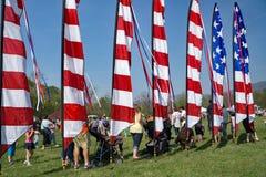 Flaga Amerykańskiej banderka Obraz Royalty Free
