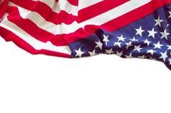 Flaga amerykańskiej granica Obraz Royalty Free