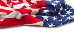 Flaga amerykańskiej granica Obraz Stock