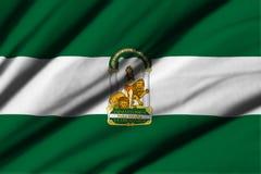 Flaga Andalucia royalty ilustracja