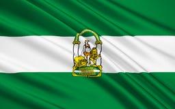 Flaga Andalusia, Hiszpania royalty ilustracja